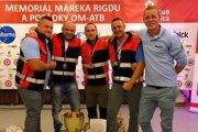 Hasičskí záchranári, zľava: Lukáš Rakár, Marek Plavčo, Marián Jún, Pavol Leško a Ondrej Ballarin.