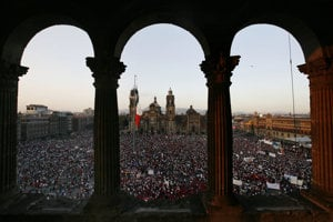 Katedrála v Mexico city, kde sa v 1968. počas olympiády vydávala Věra Čáslavská.