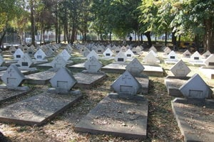 Vojenský cintorín v Mlynárciach.