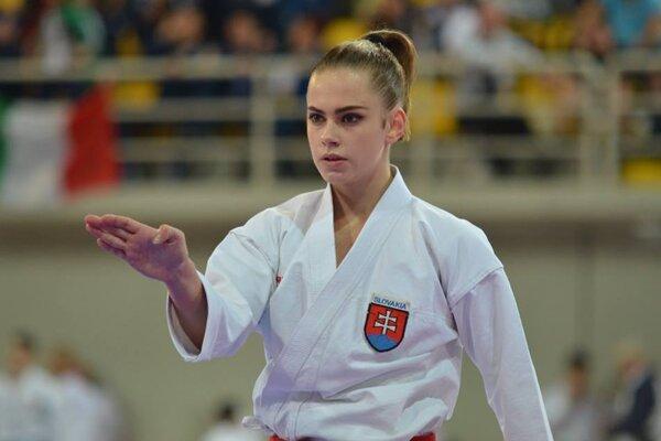 Ema Brázdová - karatistka z Prievidze.