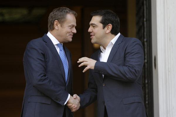 Donald Tusk a Alexis Tsipras.