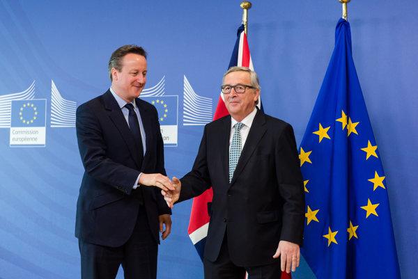 Juncker privítal britského premiéra Camerona.