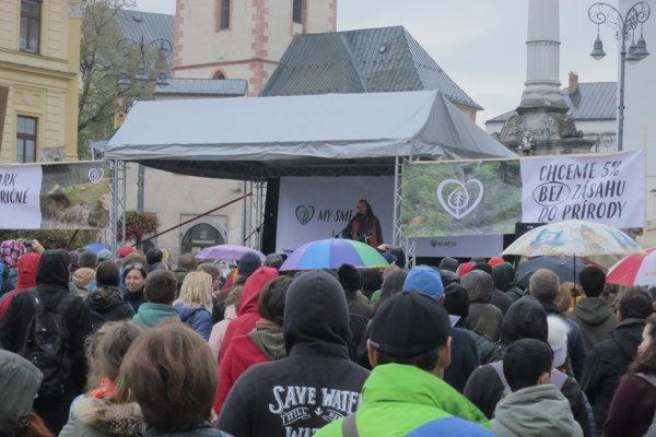 Protest My sme les v Banskej Bystrici