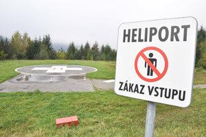 Heliport pri Dolnooravskej nemocnici.