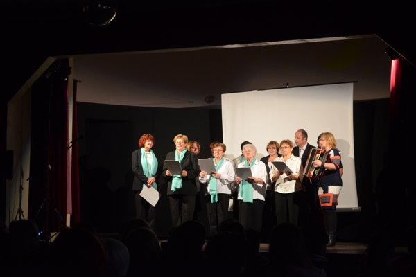 Z osláv výročia ochotníckeho divadla v Blatnici.