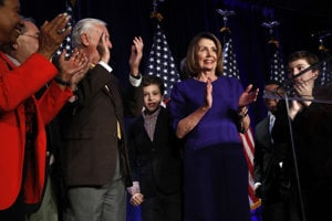 Líderka súčasnej demokratickej menšiny Nancy Pelosiová.