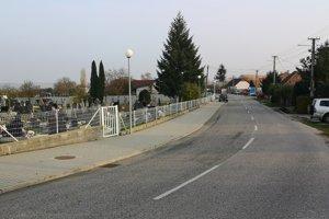 Smrek rastie na cintoríne v Dolných Orešanoch.