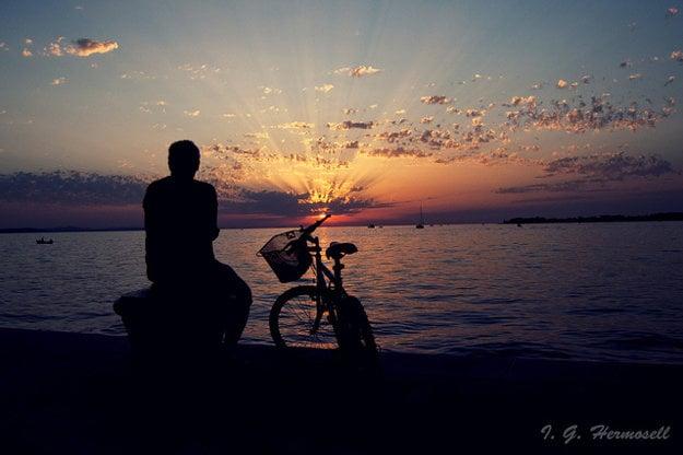 Západ slnka v Zadare.