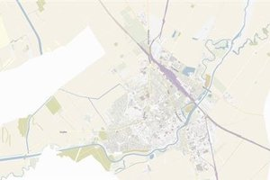 Mapa zo systému Gisplan.