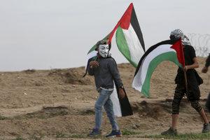 Palestínski demonštranti