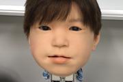 Nový dizajn tváre detského robota Affetto. Prvýkrát ju predstavili v roku 2011.