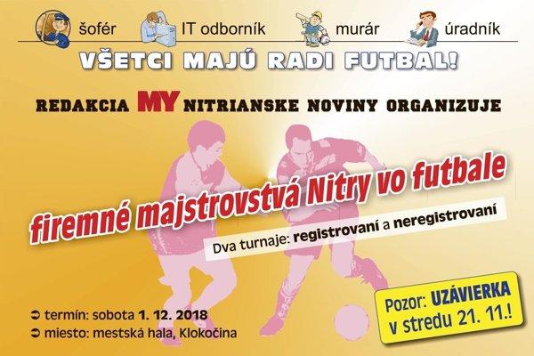 Prvý ročník firemného turnaja sa uskutoční 1. decembra.