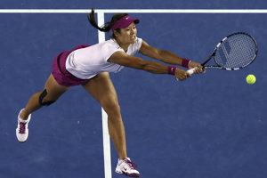 Na Li vo finále Australian Open 2014 proti Dominike Cibulkovej.