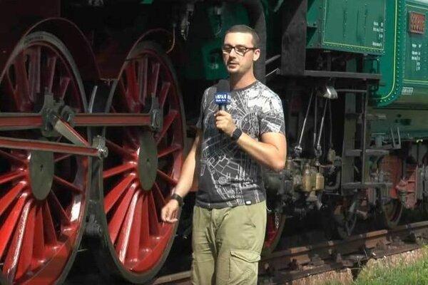 M. Hrabovský pri nakrúcaní reportáže.