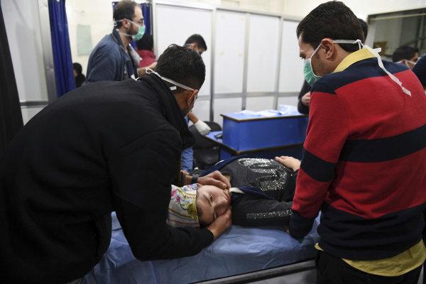 Zábery sýrskej štátnej televízie.