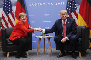 Angela Merkelová a Donald Trump na summite G20.