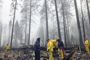 Počet nezvestných v Kalifornských požiaroch výrazne klesol