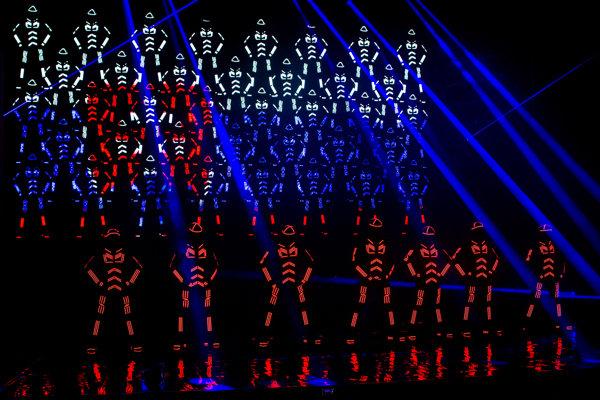 Logo odhalili tanečníci skupiny Pastels.