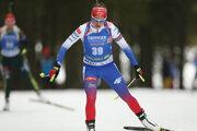 Slovenská reprezentantka Paulína Fialková na trati v súťaži na 15 km žien v 1. kole Svetového pohára biatlonistiek v slovinskej Pokljuke 6. decembra 2018.