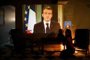 Francúzsky prezident Emmanuel Macron predniesol prejav občanom.