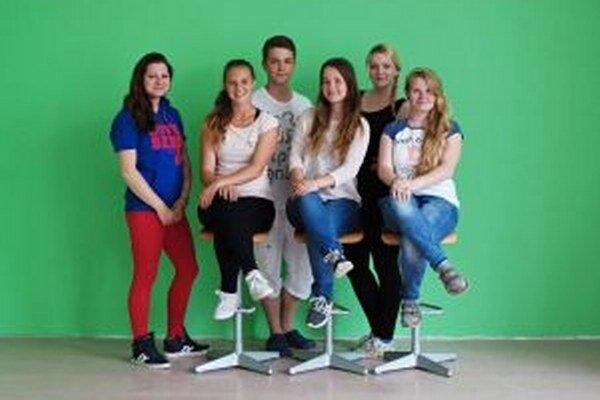 Redakčný tím študentskej televízie.