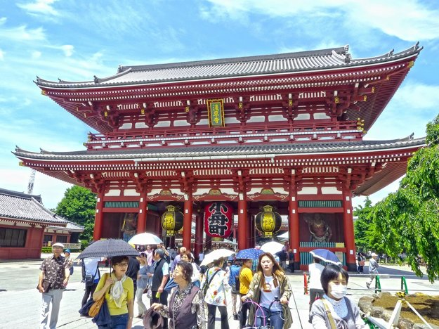 Chrám v štvrti Asakusa