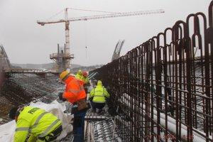 Na výstavbe diaľnice pri Prešove nastane zimný útlm. (november 2018)