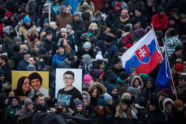 2. marec 2018.Pietny spomienkový pochod na zavraždeného novinára Jána Kuciaka a jeho partnerku Martinu Kušnírovú.