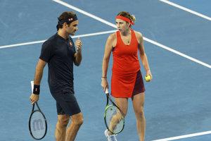 Roger Federer a Belinda Benčičová.