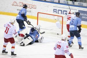 Ilustračná fotografia zo zápasu Jokerit Helsinki - HC Slovan Bratislava.