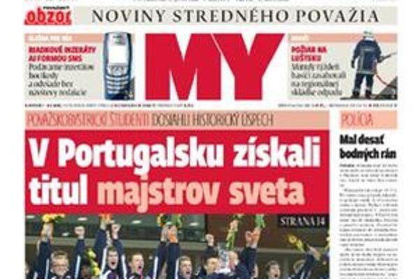 Vychádza nové číslo novín.
