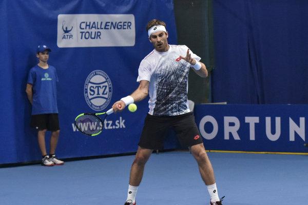 Na snímke slovenský tenista Norbert Gombos.