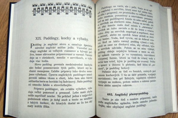 Verná kópia prvej slovenskej kuchárskej knihy, ktorú vydala Terézia Vansová.