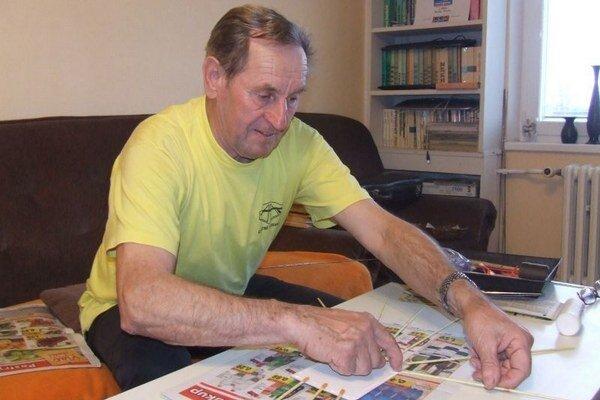 Miroslav Devečka zo Závažnej Poruby začal od jednoduchých košíkov, misiek až po bocianiky a dokonca na objednávku vyhotovil aj holuba.