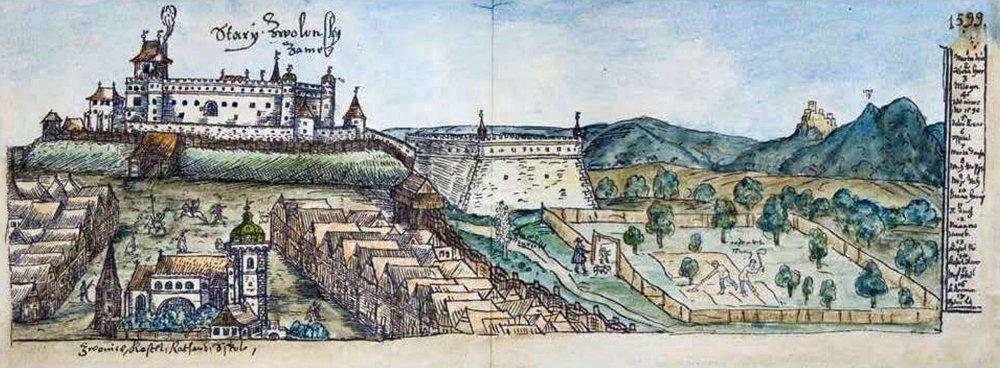 Zvolen vroku 1599 vkresbe Jana Willenberga.