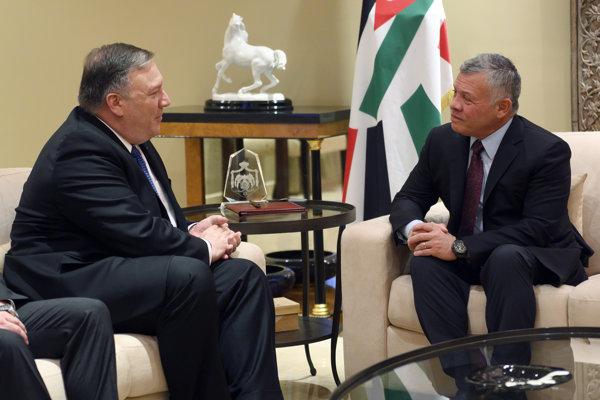 Pompeo sa stretol s jordánskym kráľom Abdalláhom II.