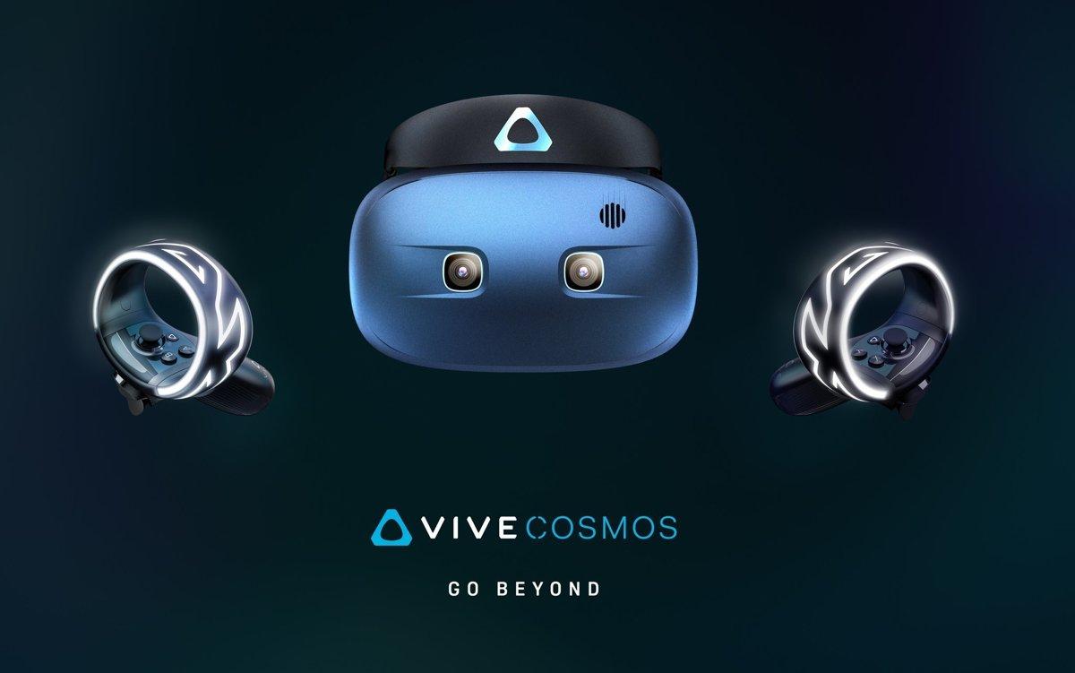 da63e3e1a HTC Cosmos s novými ovládačmi Vive. Síce pripomínajú náramok, ale na ruku  sa nenavliekajú