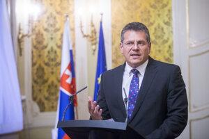 23. august 2017. Šefčoviča na Úrade vlády.