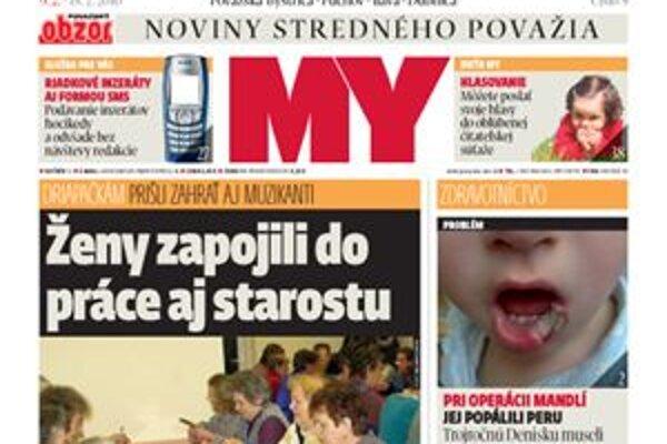 Vyšlo nové číslo vašich novín, MY Noviny stredného Považia.