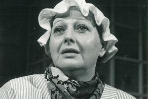 Alena Skokanová v jednej zo svojich divadelných rolí.