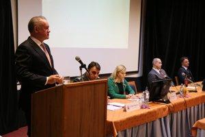 Prezident Andrej Kiska počas aktívu Policajného zboru SR.