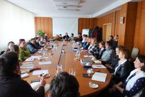 Stretnutie profesionálnych organizátorov na pôde mestského úradu vo Zvolene.
