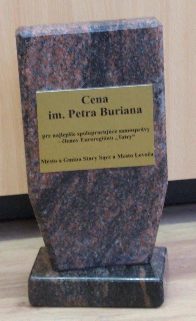 Koncom minulého roka získalo mesto Levoča cenu Petra Buriana