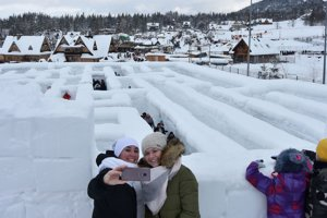 Snehový labyrint v Zakopanom.