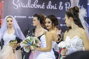 Účastníčky súťaže Naj nevesta počas jubilejného 10. ročníka svadobnej výstavy Svadobné Dni a Beauté 2019.