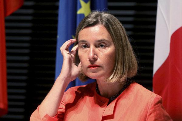 Šéf európskej diplomacie Federica Mogheriniová.