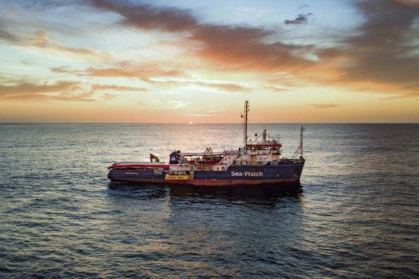 Loď nemeckej mimovládnej organizácie Sea WatcH.