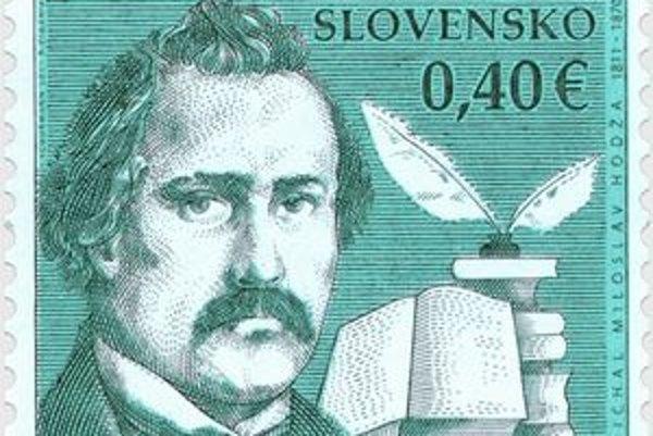 Portrét Hodžu vyšiel prvýkrát na poštovej známke pri príležitosti stého výročia Slovenského povstania v rokoch 1848-49.