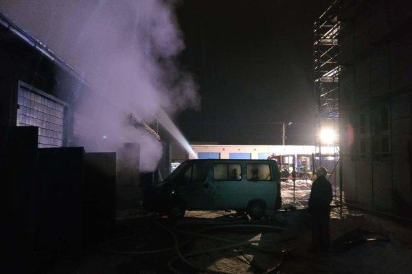 Požiar dielní SOŠ polytechnickej