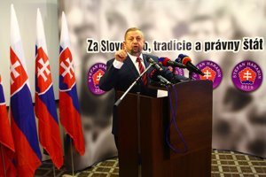 Štefan Harabin predstavil svoj volebný program, logo a slogan kampane.